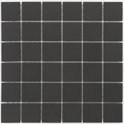 Cerámica Mosaico Azulejos Negro Mate pared suelo ducha inodoro ...