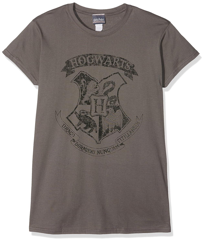 Harry Potter Damen T-Shirt Distressed Hogwarts W PE13060SKCP
