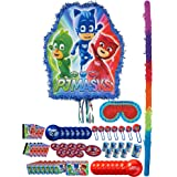 Party City PJ Masks Pinata Kit and Supplies with Favors, Includes Bat, Blindfold and Party Favor Pack