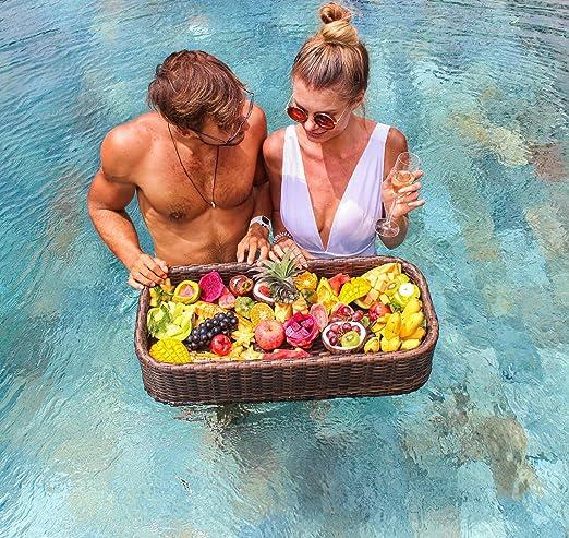 Amazon.com: Bandeja flotante de lujo para servir mesa y bar ...