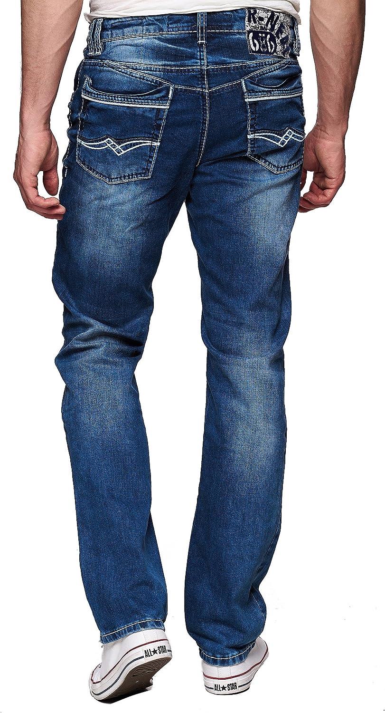 Jeans mit dicker weißer naht herren