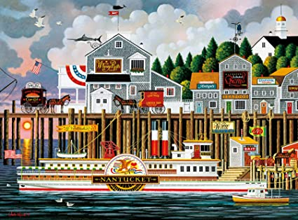56079dd9308c2 Image Unavailable. Image not available for. Color  Buffalo Games - Charles  Wysocki - By The Sea - 1000 Piece Jigsaw Puzzle
