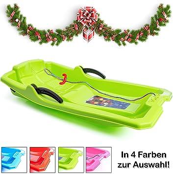 Turbo Slign - Trineo con Frenos ✅ ✅ Trineo de plástico para niños/niños pequeños/Adultos, Verde: Amazon.es: Deportes y aire libre