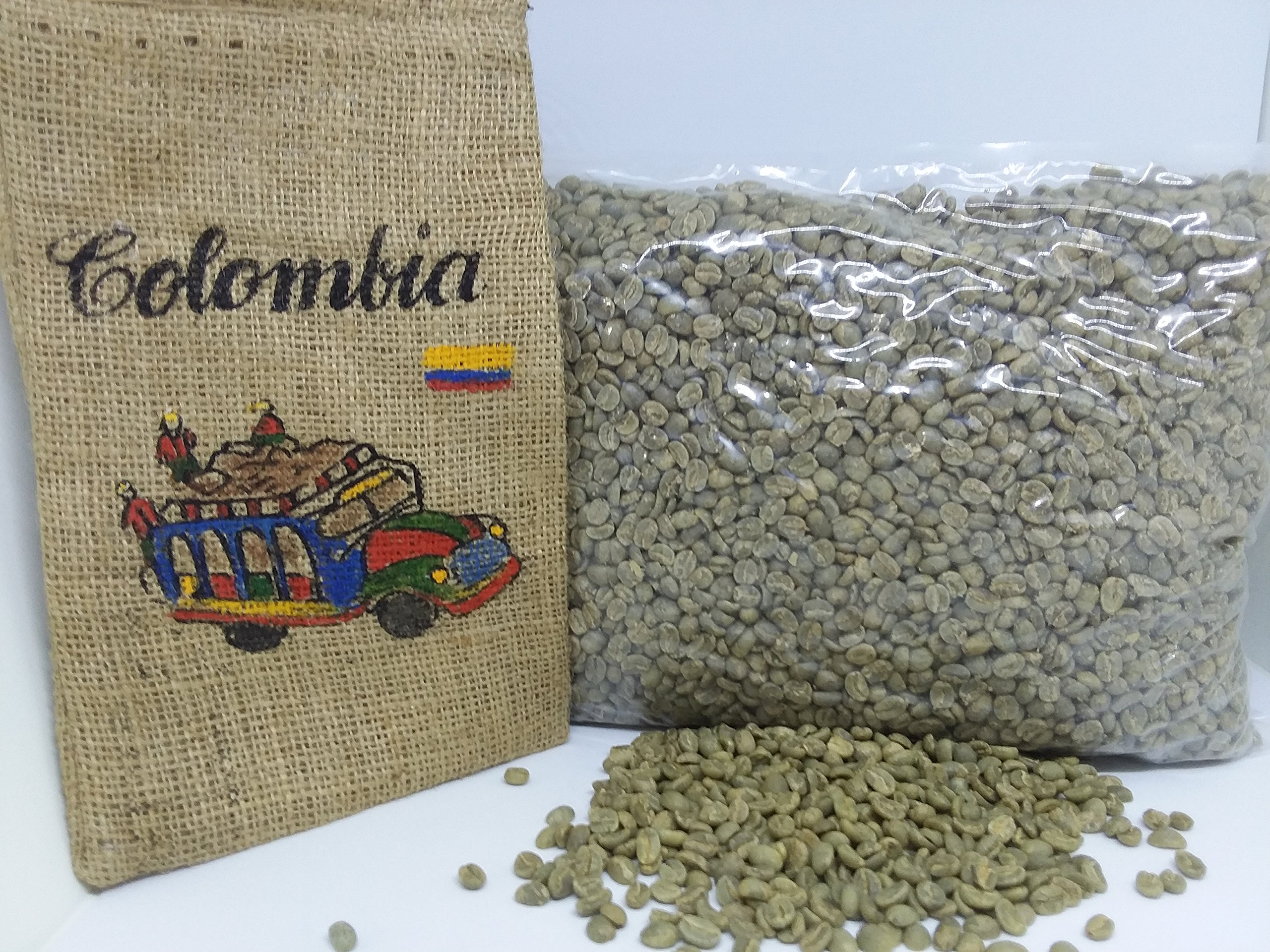 Unroasted Coffee Beans - Colombian coffee 6 lb - Green coffee beans -Single Origin Coffee