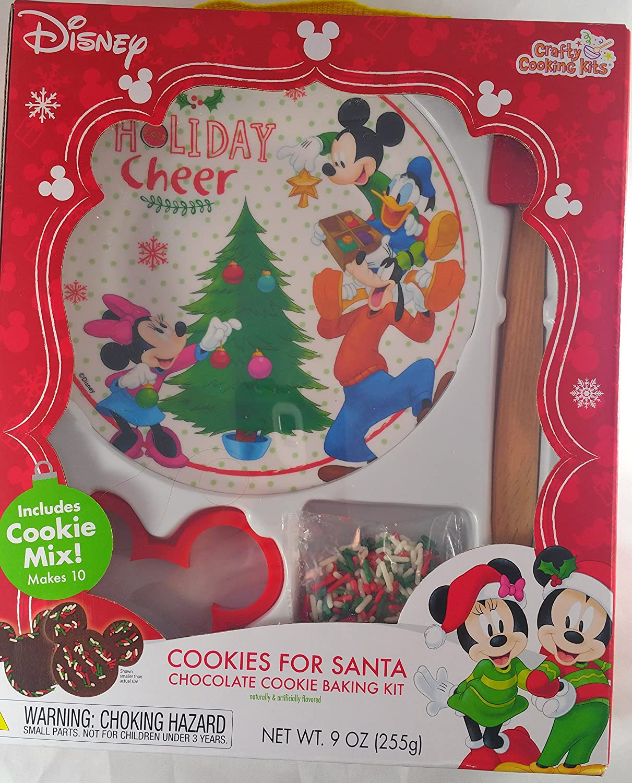 Amazon Com Disney Cookies For Santa Chocolate Mickey Mouse Cookie