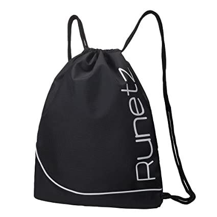 2852c214a1 Amazon.com  Runetz - Sackpack for Women and Men Drawstring Gym Bag ...