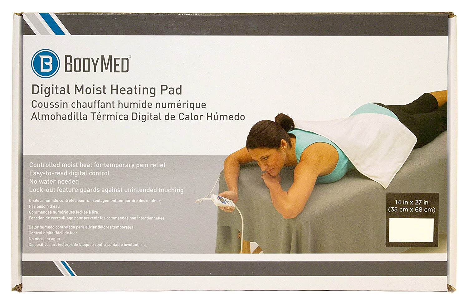 Amazon.com: BodyMed Digital Moist Heating Pad with Auto Shut Off Heating Pad for Neck and Shoulders, Back Pain and Muscle Pain Relief: Health & Personal ...