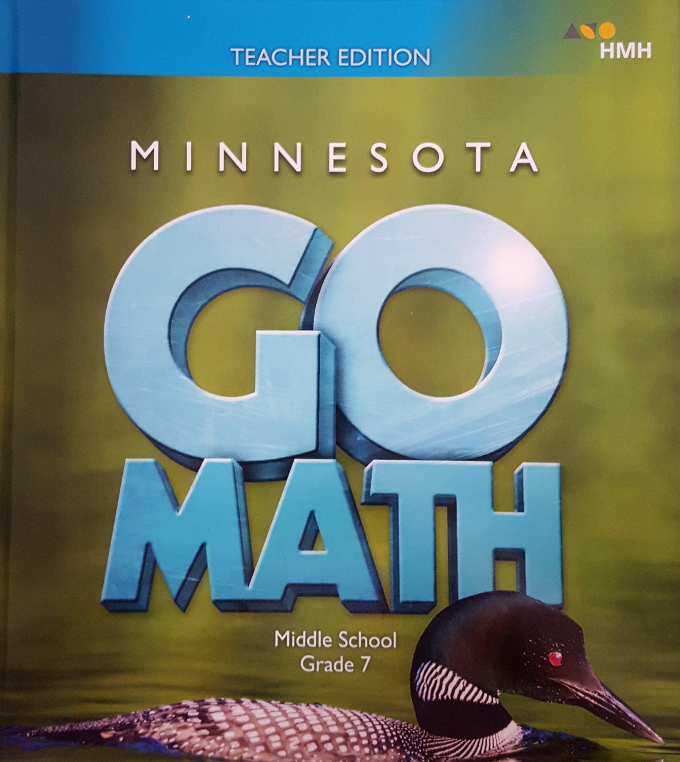 Go Math, Middle School, Grade 7, Teacher Edition, Minnesota