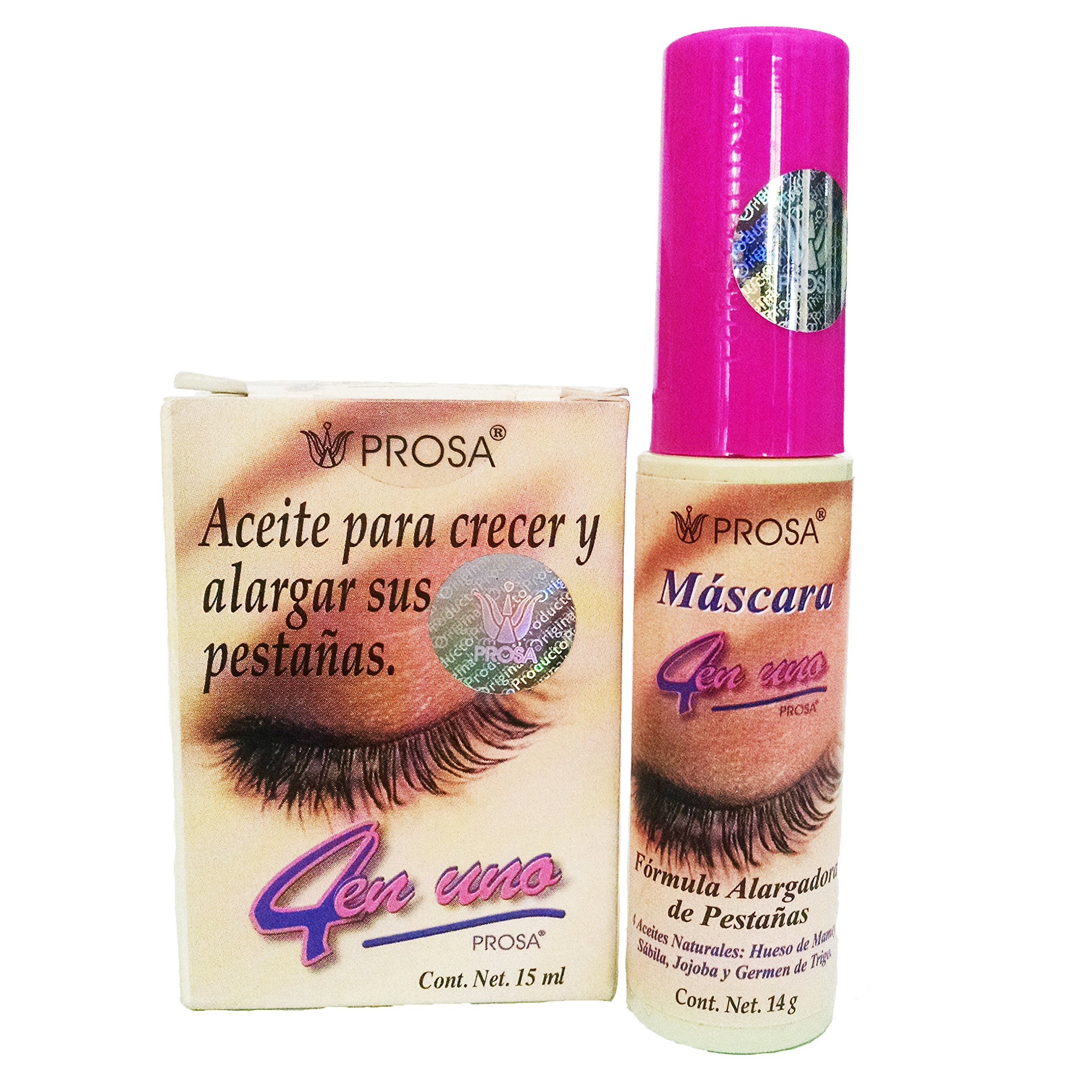 Combo Pack-Prosa Mascara For Enlarging Eyelashes 1 rimel con aceite de mamey oil Enlarging