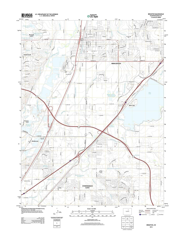 Brighton Colorado Map.Amazon Com Topographic Map Poster Brighton Co Tnm Geopdf 7 5x7 5