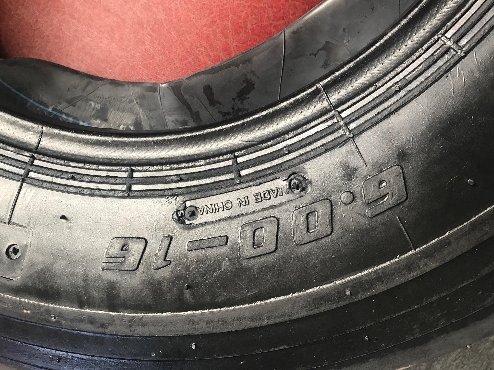 (2 TIRES NO TUBE ) 6.00-16 6PLY F2 3-Rib Farm Tractor Tires by UNILLI (Image #2)