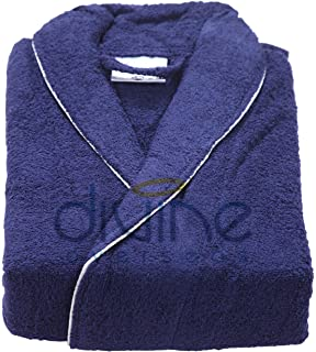 379f3c0658 DIVINE OVERSEAS 1 Piece Soft 100% Cotton Hotel Shawl Collar Bathrobe Bath  Gown