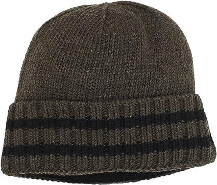 f214de4d777 Amazon.com  Chaos Men s Time Ragg Wool Cuffed Stripe Beanie (Heather ...