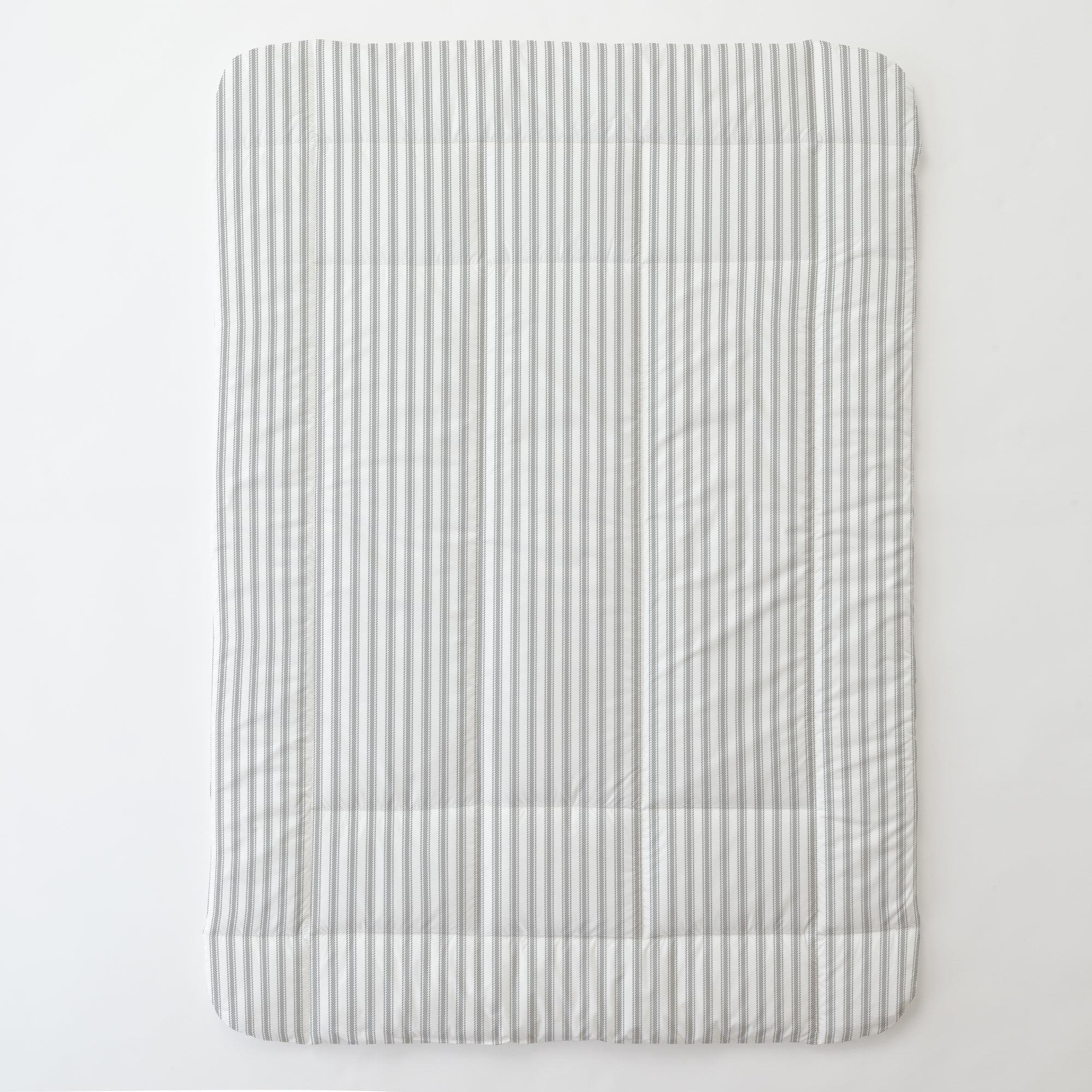 Carousel Designs Cloud Gray Ticking Stripe Toddler Bed Comforter