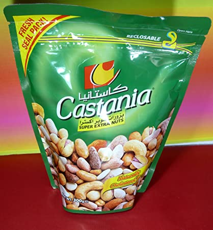 CASTANIA Gourmet Nuts from Lebanon, SUPER EXTRA NUTS,300g