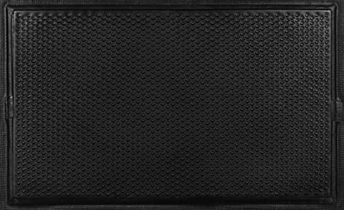 Andersen 490 Nitrile Rubber Happy Feet Grip Surface Anti Fatigue Mat with Black Border, 3 Length x 2 Width, For Wet Areas