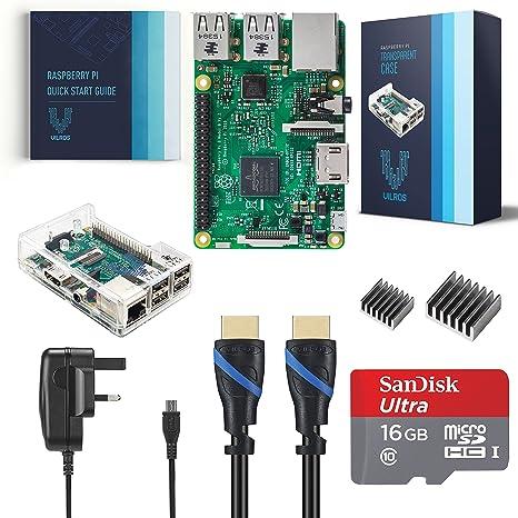 Raspberry Pi Modelo B+. Raspberry Pi 3 Complete Kit: Amazon.es ...