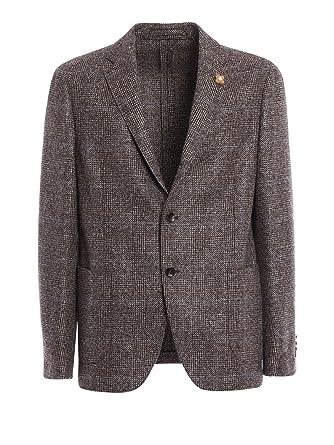 49e7b51e6069 LARDINI Herren Ic9025631 Braun Wolle Blazer  Amazon.de  Bekleidung