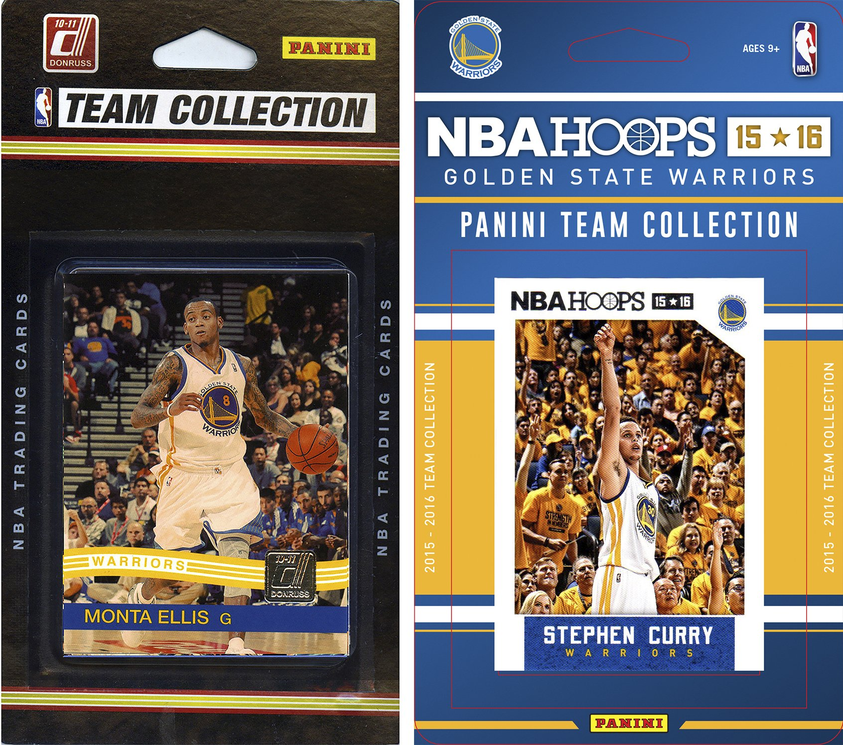 C&I Collectables NBA Golden State Warriors 2 Different Licensed Team Set Trading Card