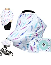 Baby Car Seat Cover Canopy Nursing and Breastfeeding Cover (Feather and Arrows)