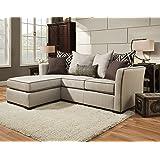 Simmons Upholstery 4202-04Q Linen Stewart Sleeper Sofa, Queen, Tan