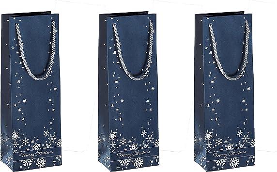 """Noël Design Argent Flocon De Neige Doux Sacs en Papier-Cadeau Fête Sacs 10/"""" X 14/"""""""