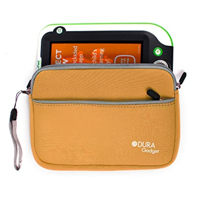 DURAGADGET Soft Orange Neoprene Pouch - Compatible with Leapfrog LeapPad Ultra | Leappad Platinum | LeapPad3x | LeapPad3 | LeapPad Ultra XDI | Leappad2 (Leappad 2) & Leappad Explorer (1): Toys & Games