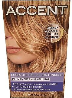 6x Haarfarbe Strähnen Set Accent Permanente Aufhellung