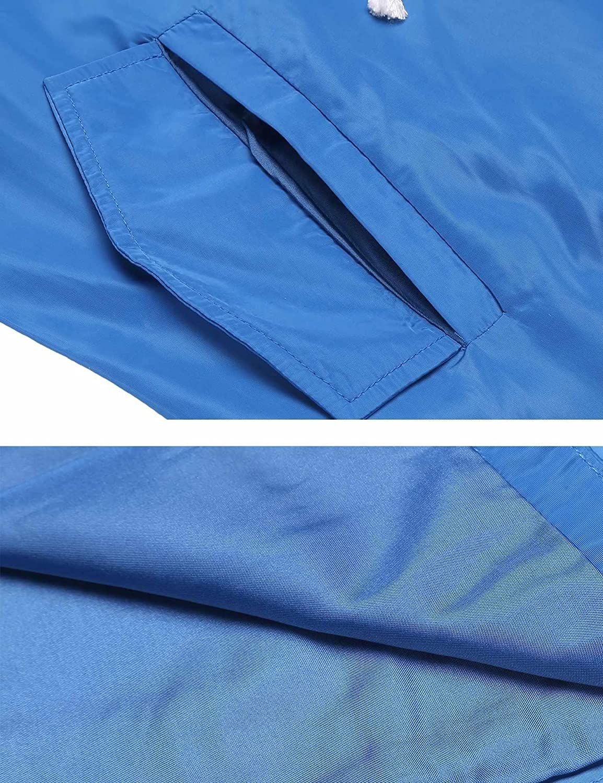 Bifast Womens Waterproof Lightweight Raincoat Hooded Drawstring Outdoor Windbreaker Long Jacket