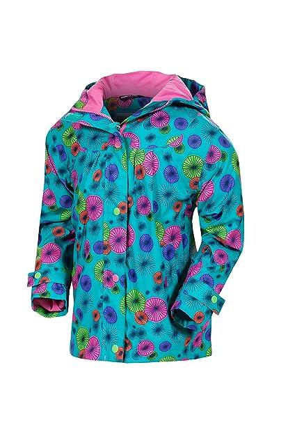 Target Dry Evie chicas impresión chaqueta de lluvia (Sombrilla verde azulado, 7-8
