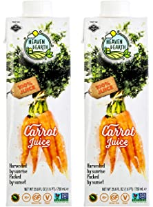 Heaven & Earth, 100% Pure Carrot Juice 25.6oz (2 Pack)