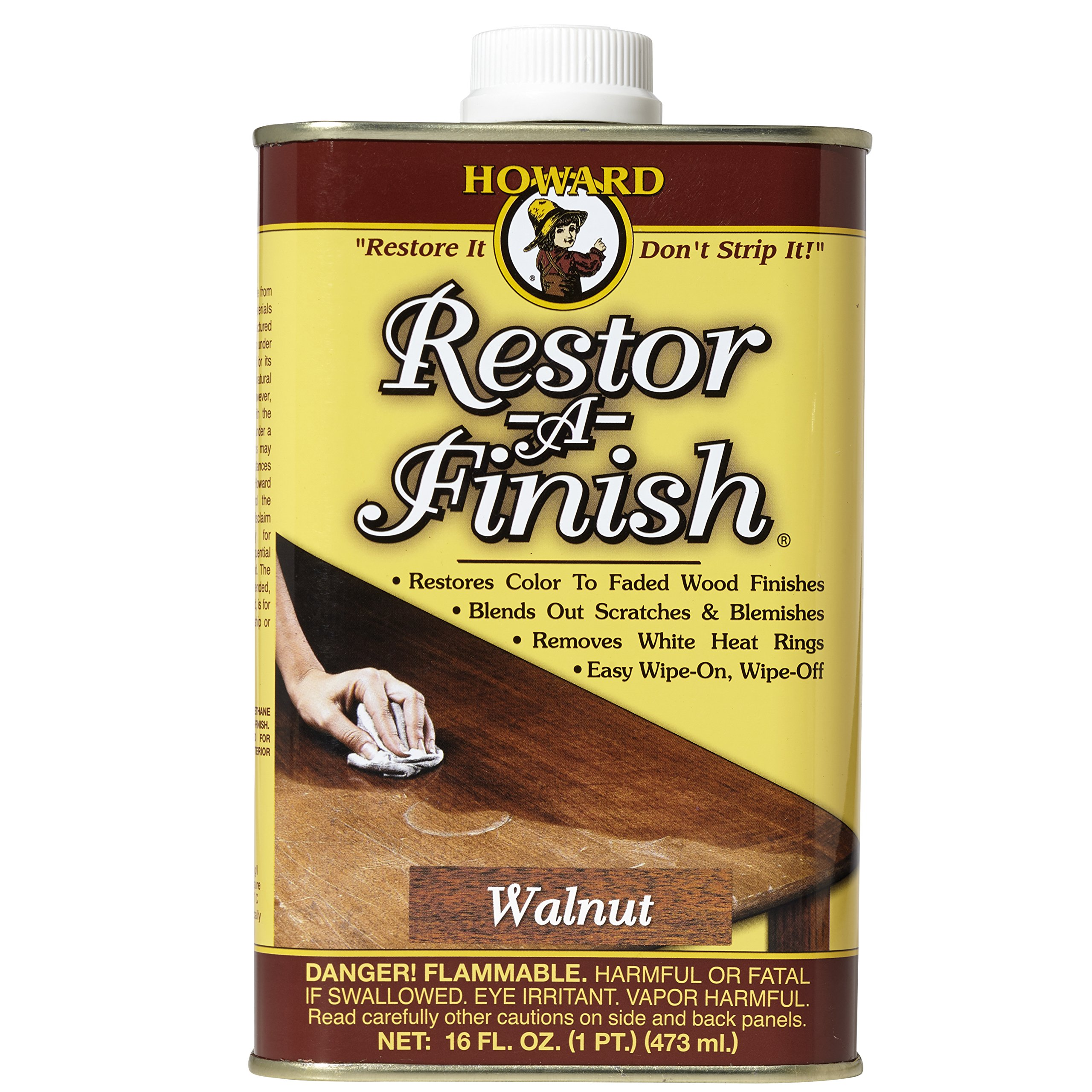 Howard Products RF4016 Restor-A-Finish, 16 oz, Walnut, 16 Fl Oz
