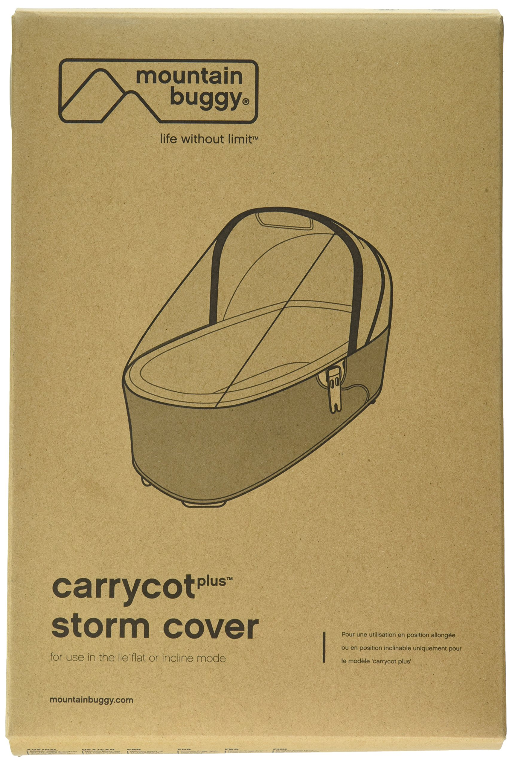 Mountain Buggy Storm Cover for Carrycot Plus for 2015 Urban Jungle, Plus One, and Terrain by Mountain Buggy (Image #1)