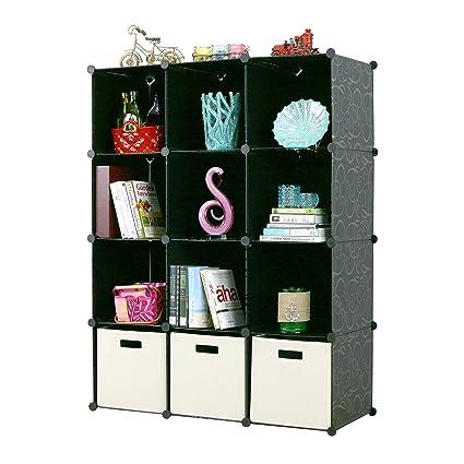 Amazon unicoo multi use diy plastic 12 cube organizer wardrobe unicoo multi use diy plastic 12 cube organizer wardrobe boxes storage cabinet wardrobe solutioingenieria Images