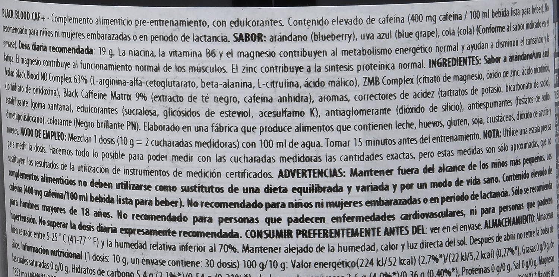 BioTech Black Blood CAF+ Barras y Bebidas Nutritivas, Sabor Cola - 300 gr: Amazon.es: Salud y cuidado personal