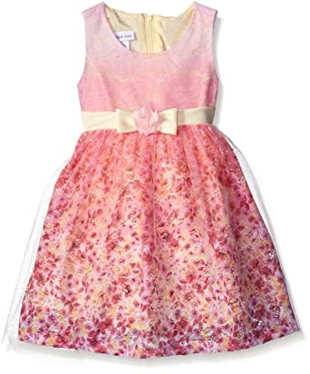 95a0e65ccb4 Amazon.com: Bonnie Jean Little Girls Sleeveless Party Dress, Yellow ...