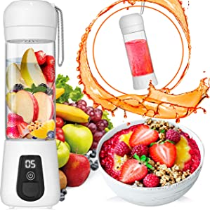 Lacomri Portable Blender – Travel Blender – Cordless Blender – Portable Blender USB Rechargeable – Personal Blender – Mini Blender with Stainless-Steel Blades – Ideal for Healthy Juices and Smoothies