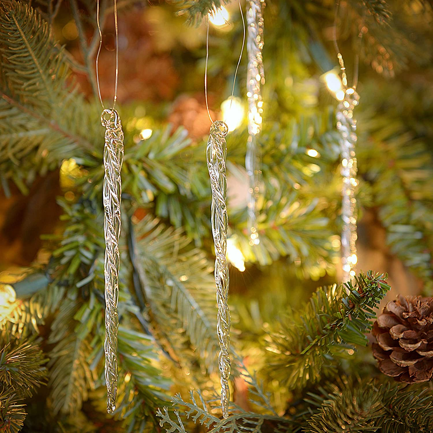 Handmade Glass Ornament-Icicle 8 Inch