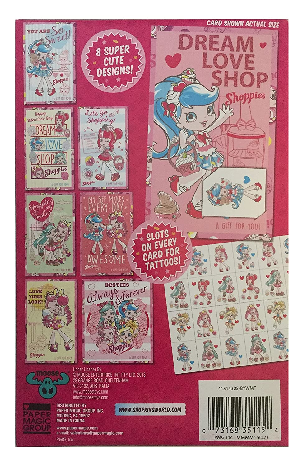 Amazon shopkins shoppies 32 valentines cards with tattoos amazon shopkins shoppies 32 valentines cards with tattoos office products m4hsunfo Gallery