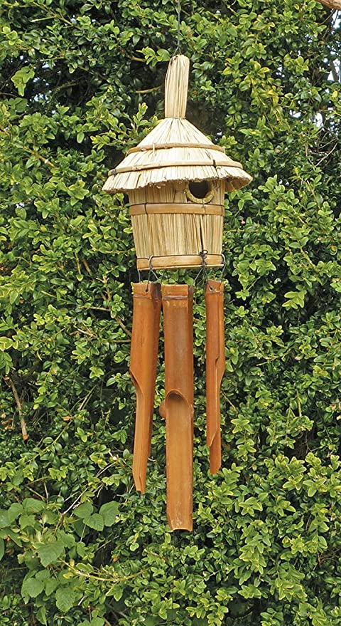 Sunlover BDH10 Campana de Viento y Pajita de bambú Ideal para pájaros de jardín, campanillas Musicales recicladas ecológicas de Comercio Justo: Amazon.es: Hogar