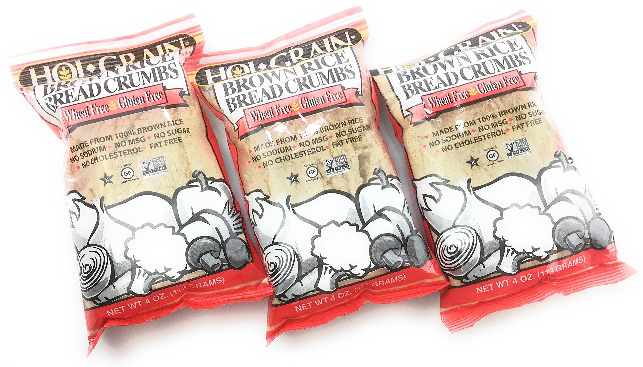 HOL GRAIN Brown Rice Bread Crumbs, 4 OZ