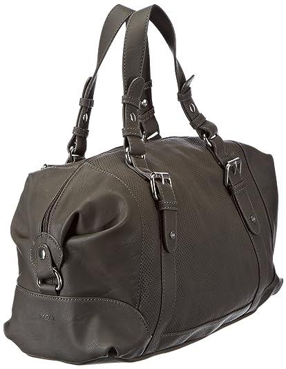 13baw012 - Perforated Bag 3FBWB010, Damen Schultertaschen, Grau (Charcoal Grey 072), 39x24x17 cm (B x H x T) Mexx