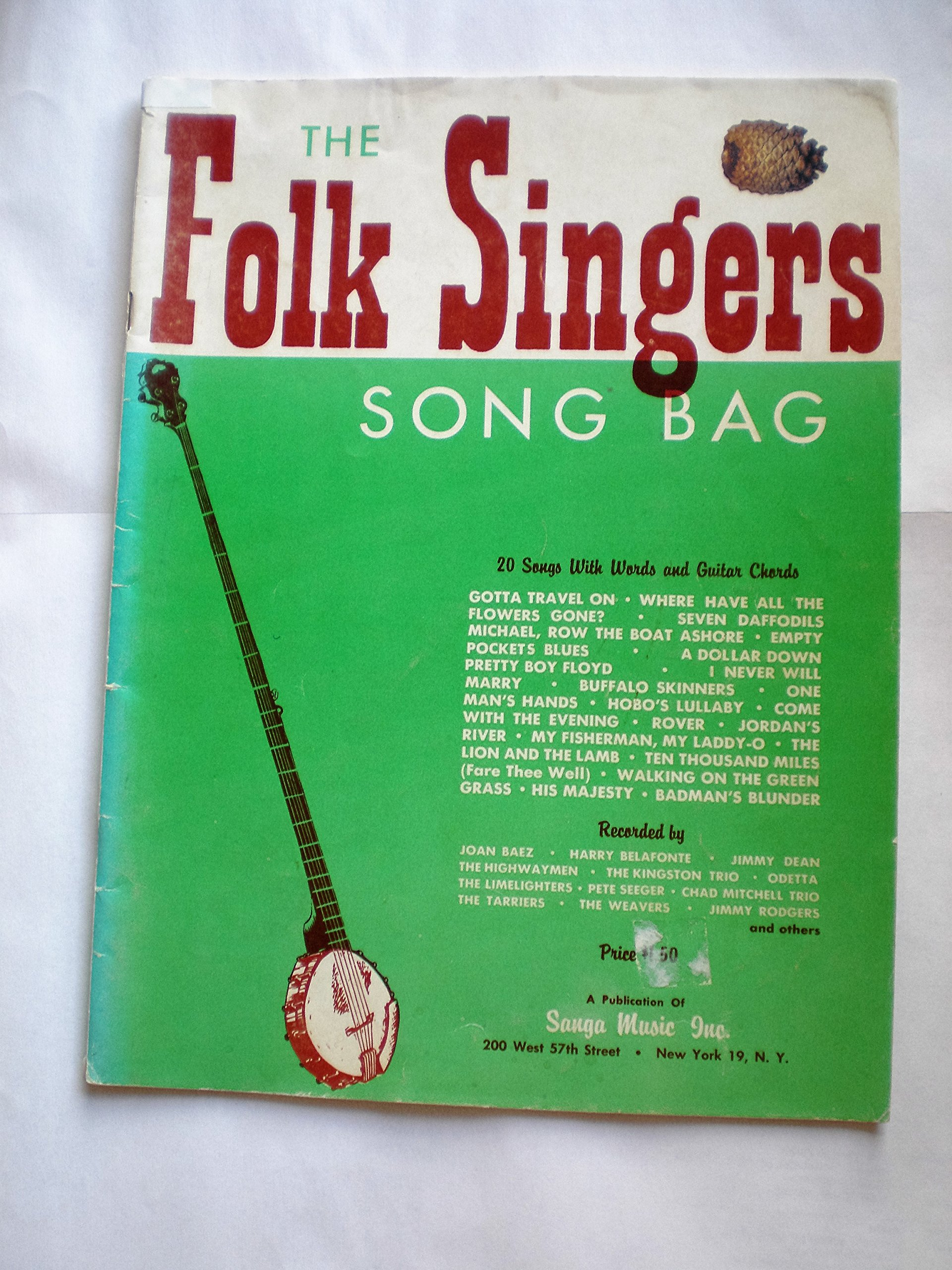 The Folk Singers Song Bag 20 Songs With Words And Guitar Chords