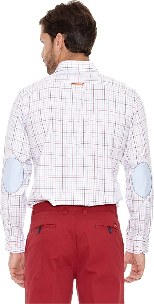 Spagnolo Camisa Hombre Villela Tercio Burdeos/Rosa M: Amazon.es: Ropa y accesorios
