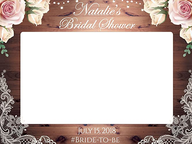 custom floral bridal shower photo prop sizes 36x24 48x36 personalized rustic bridal shower