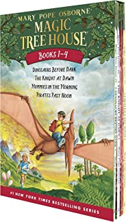 Magic Tree House Boxed Set, Books 1-4: Dinosaurs Before Dark, The Knight at Dawn, Mummies in the Morning, and Pirates Past N