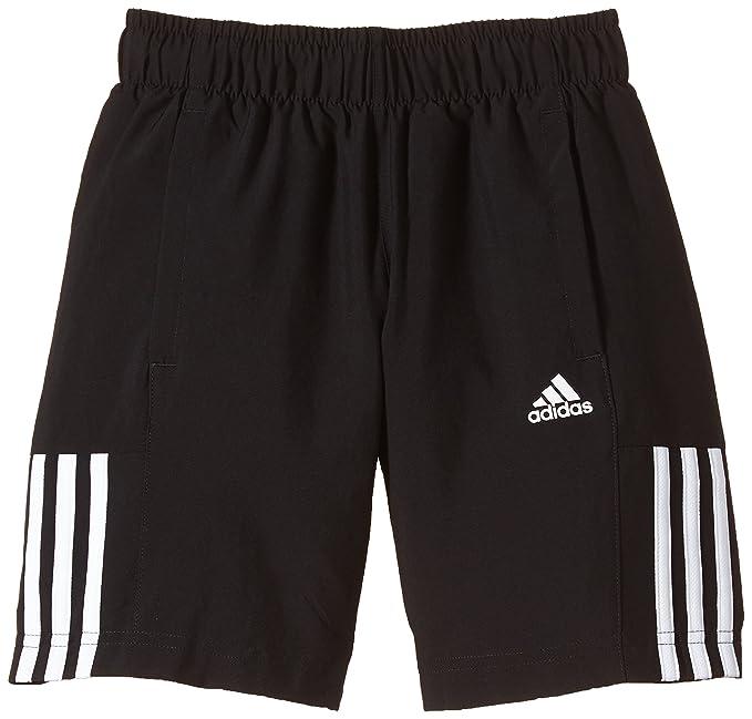 adidas Childrens Training 3 Stripes Woven Shorts