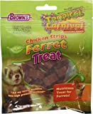 F.M.Brown's Tropical Carnival Natural Chicken Strips Ferret Treat, 2-Ounce Package