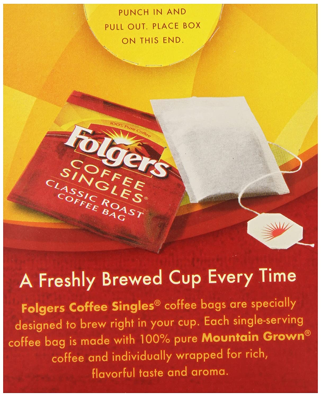 Amazoncom Folgers Classic Medium Roast Coffee Singles Serve Bags