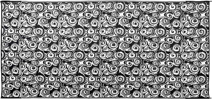 2.44 x 4.88 m Camco 42843 Stuoia Reversibile per Esterni Antracite con Motivi a Spirale